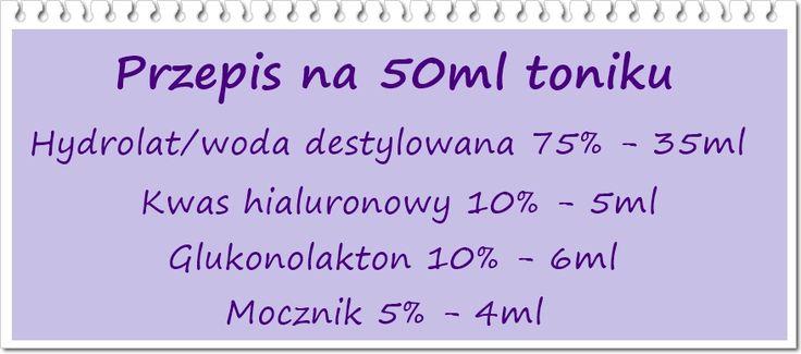 Kasia na fali: Zrób to sam - tonik z 10% glukonolaktonem i mocznikiem - prosty tonik do ukręcenia w domu :)