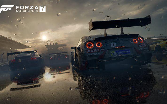 Herunterladen hintergrundbild forza motorsport 7, 4k, 2017-spiele, racing simulator