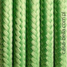 Przewód zasilający Zielona Koniczyna od Kolorowe Kable-jasnozielony pastelowy kabel - casa-bella - oświetlenie to nasza pasja