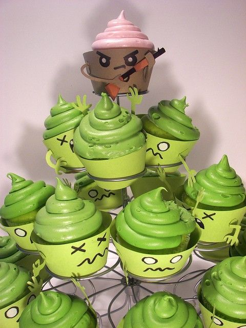 For your party: Zombie Cupcakes!!