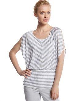 Striped Split Sleeve Blouse - White House | Black Market