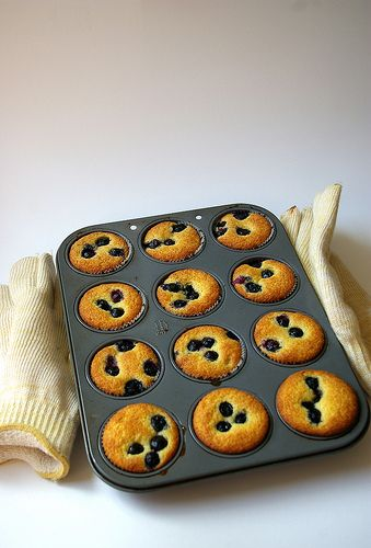Blueberry Cornmeal Muffins | Eat and Sip | Pinterest