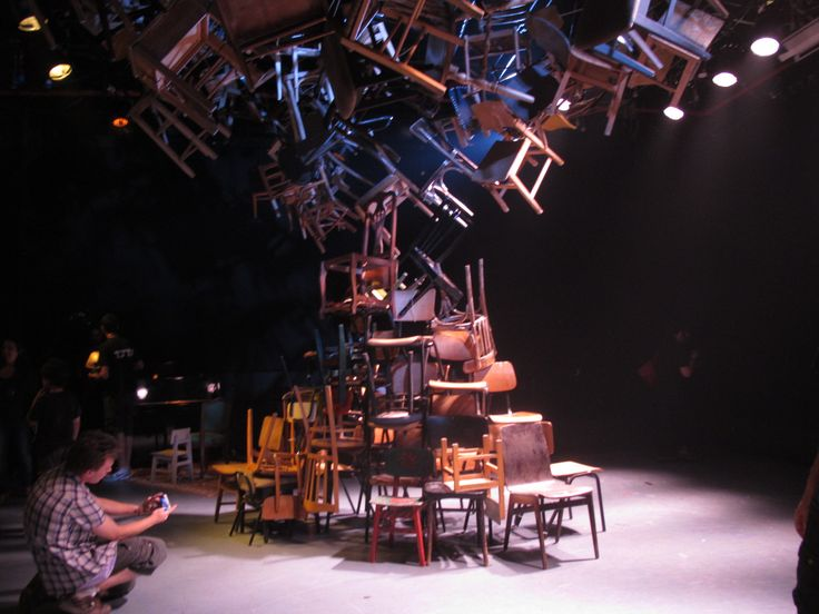 Tree made of chairs stage design by Rakefet Levy 2011