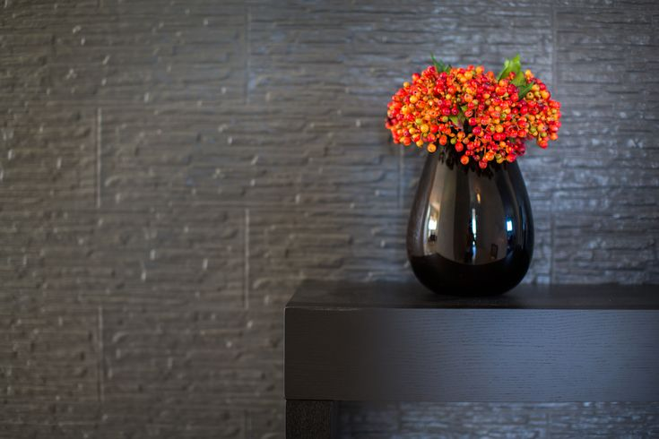 Make a statement in your homes entrance using bold colours and intriguing textures.