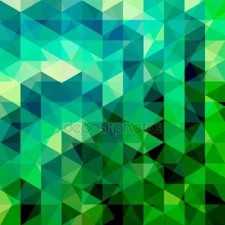 Descargar - Fondo de triángulos verdes. Composición de cuadrados con figuras geométricas. 10 EPS — Ilustración de stock #147454521