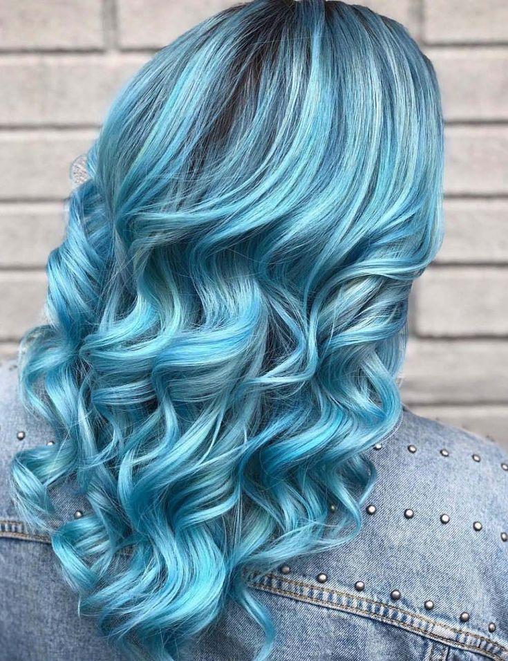 15 Gorgeous Hair Highlight Ideas 2020 Gorgeous Bright Blue Hair Color Ideas for 2019 | summer hair