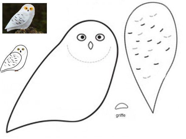 owl made in felt
