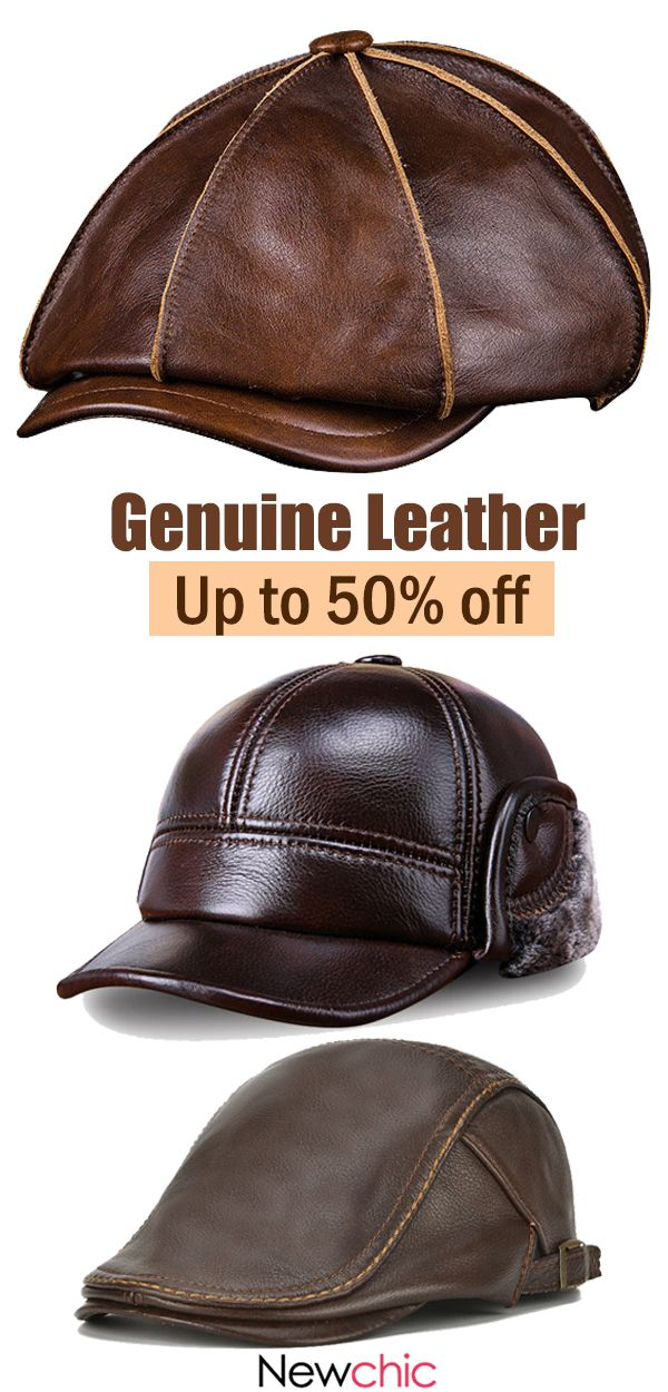 ac302a3f Buy Now】Men's Genuine Leather Cap #cap #leather | NC* Hats & Caps ...