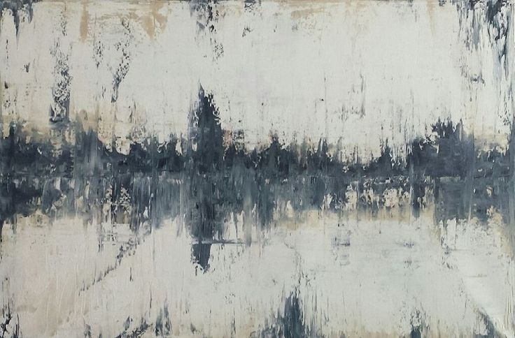 """""""Reflections"""" by Suzanna Denes, abstract oil painting"""