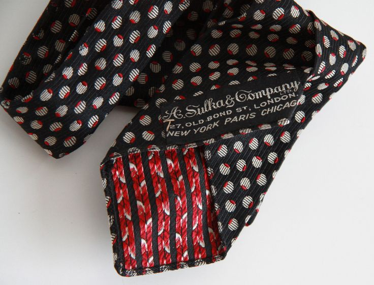 #vintagetie #brandSulka you can buy on http://www.salonmody.cz/en/home/22-mens-tie-brand-sulka.html