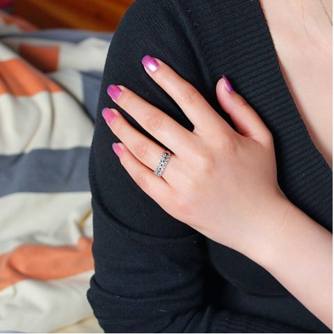 18k Gold Plated with crystal palace Ring | Stylish Beth