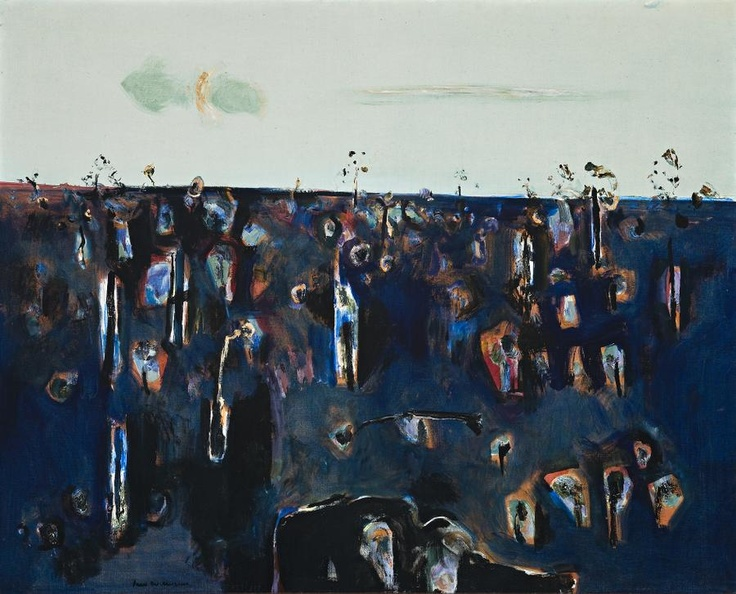 Fred Williams Two Green Clouds, 1966 122.0 x 152.0 cm oil on canvas