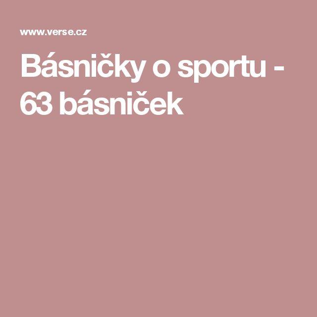 Básničky o sportu - 63 básniček
