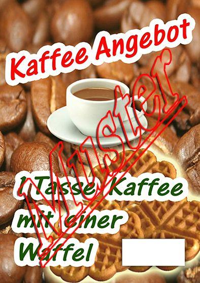 #Plakat #Kaffee #Waffel #Angebotsplakat #Verkaufsplakat