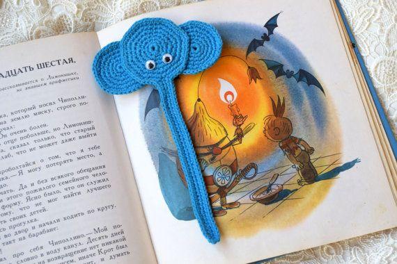 Gehaakte bladwijzer olifant haakwerk dieren bladwijzer van de kinderen terug naar school Book minnaar cadeau planner lezen accessoires leraar cadeau kind cadeau