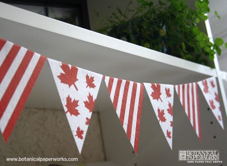 Canada Day Free Printables - Bunting from Botanical PaperWorks.