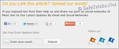 """Social Sharing And Social Subscribing box named as """" Do You Like This Article"""" For blogger. Add this widget box under every post and its helps to get more follower and share also for more details"""