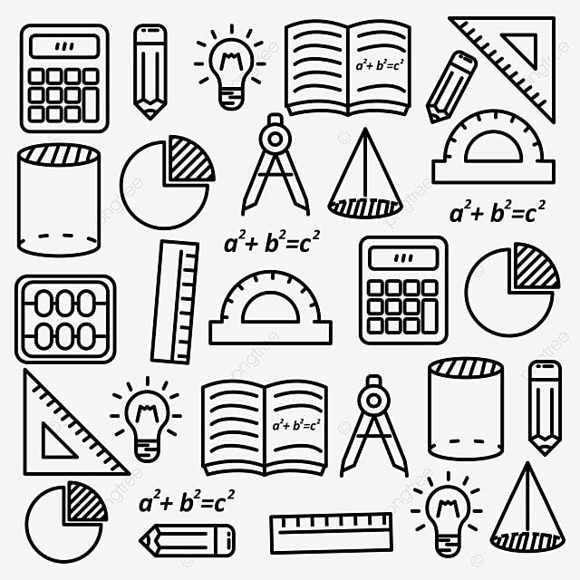 Mathematics Doodle Vector Illustration With Black Line Design Suitable For Background Science Clipart School Hand Drawn Png And Vector With Transparent Backg How To Draw Hands Math Doodles Doodles