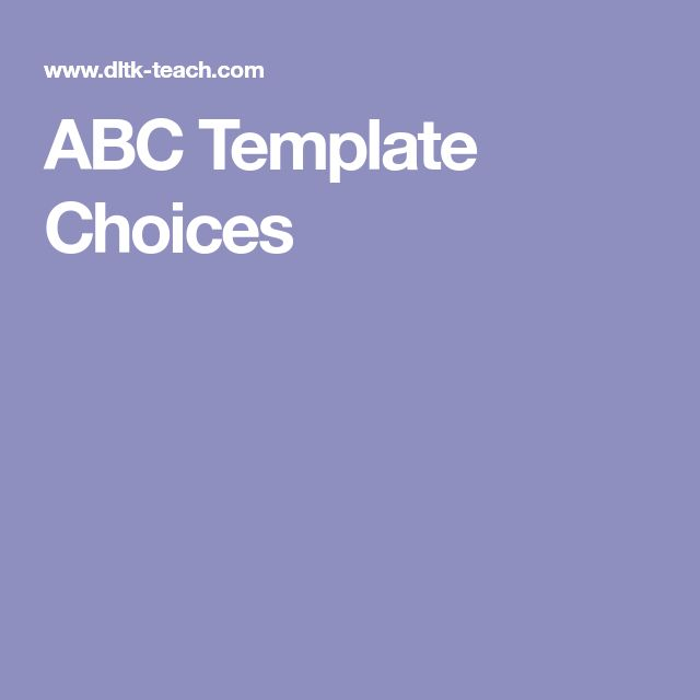 ABC Template Choices