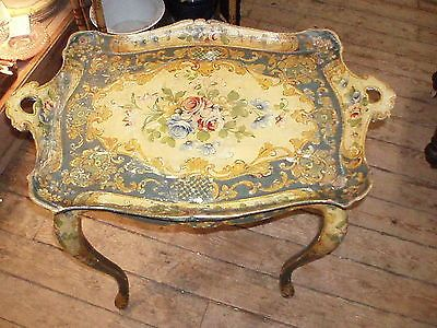 Antique-Italian-Hand-Painted-Tea-Table