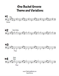 Bucket Drumming Theme and Variations