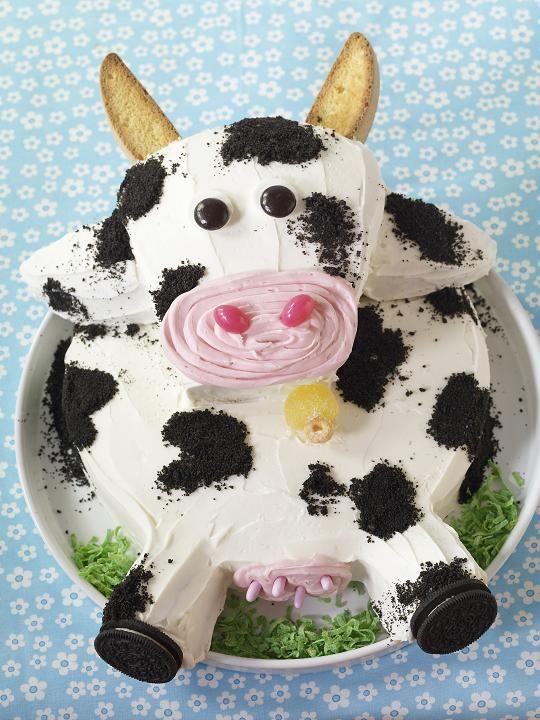 Een grappige koeien-taart #cake #cow #koe #taart #delicious