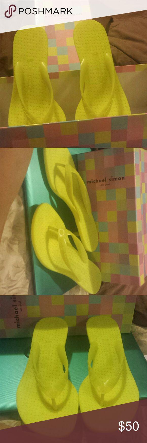 Brand new Sigerson Morrison Sandals Authentic bright yellow sigerson morrison thons Sigerson Morrison Shoes Sandals