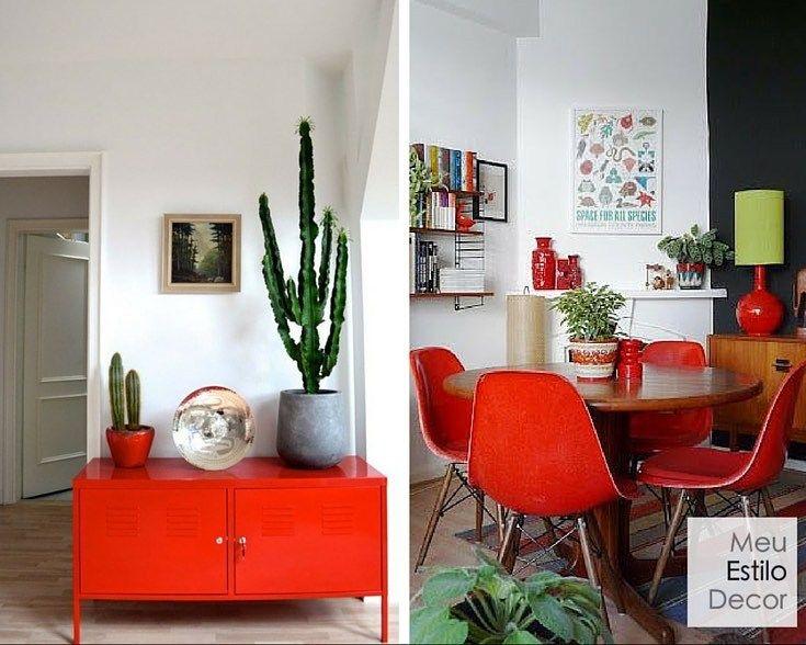 Uma pitada de vermelho para esquentar sua casa para o inverno.