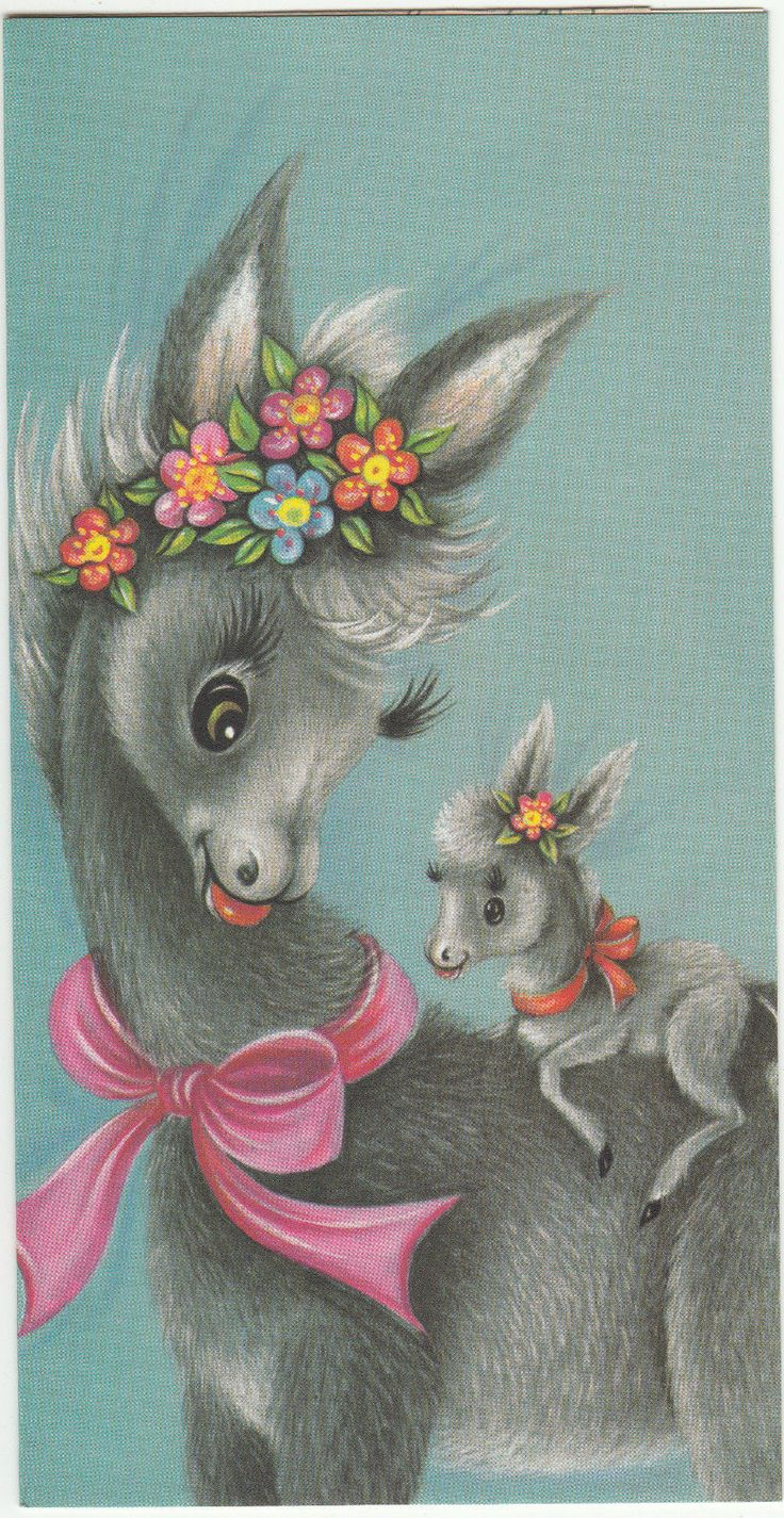440 best greeting cards vintage images on pinterest vintage vintage 1970s happy birthday greeting card envelope by royle baby donkey in collectables kristyandbryce Image collections
