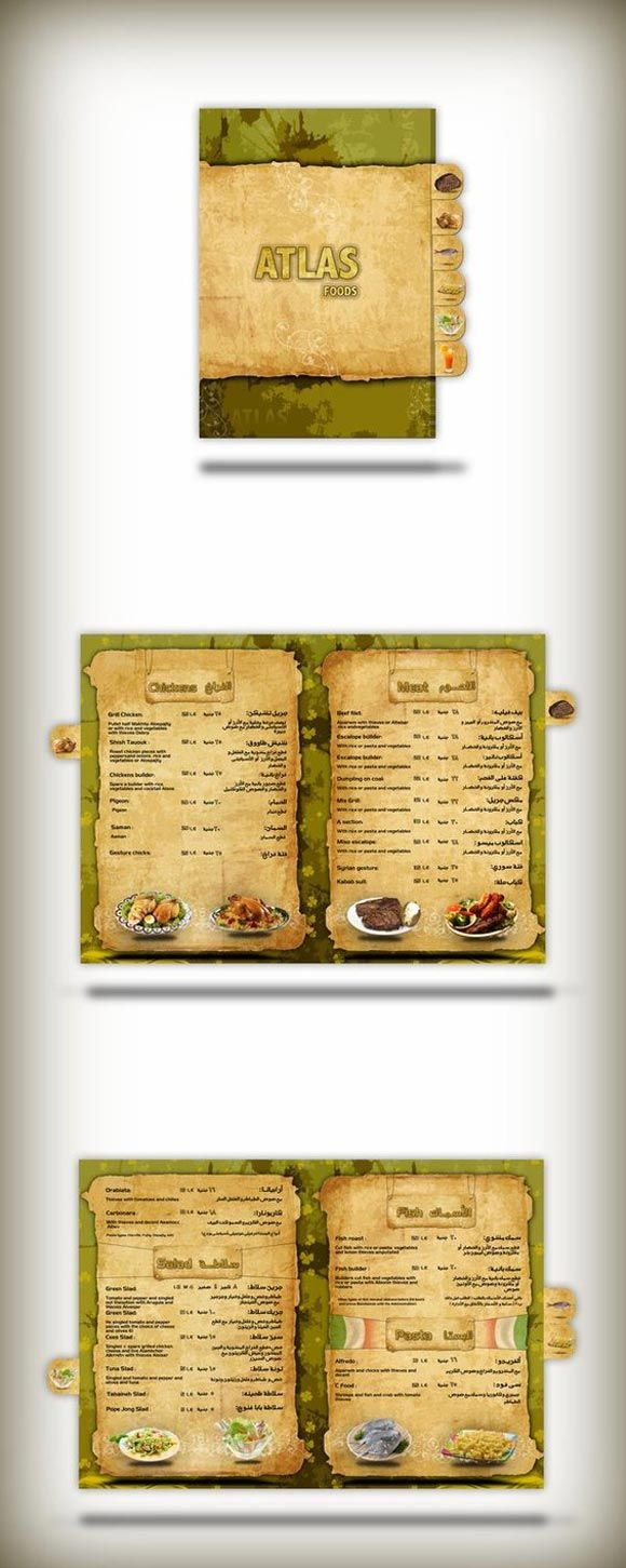 40 beautiful restaurant menu templates and designs design sparkle - Restaurant Menu Design Ideas