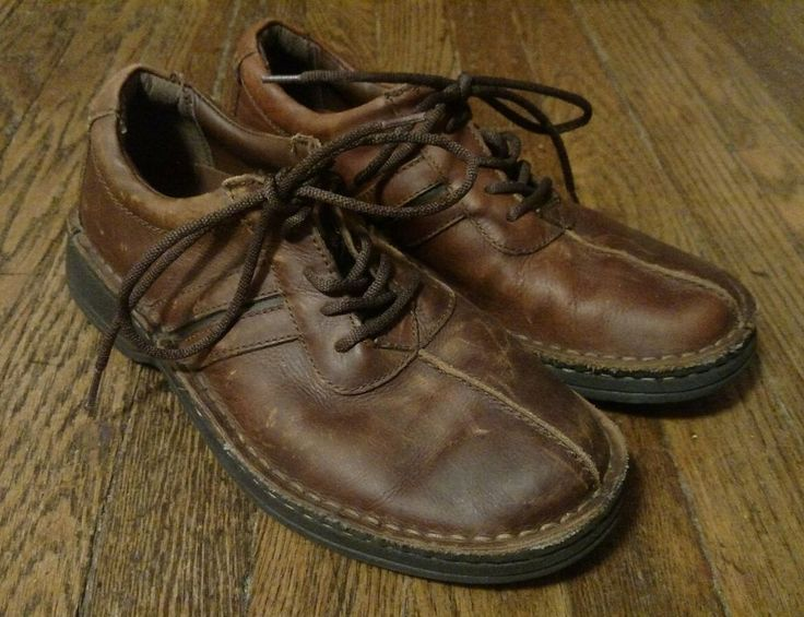 Earth Shoe Brown Leather Jody Lace Up Shoes Size 8 #Earth #LaceUps