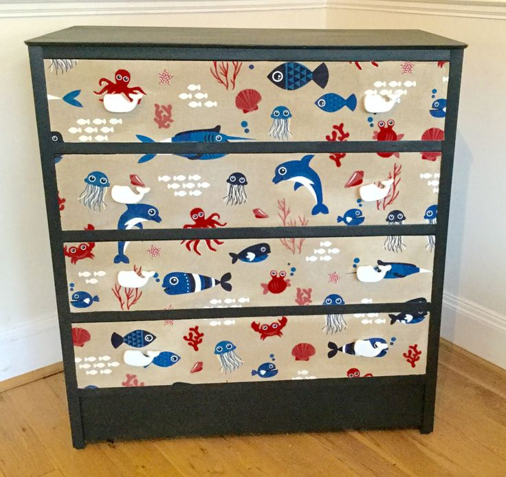 Upcycled vintage chest of drawers by florriesfabfinds on Etsy