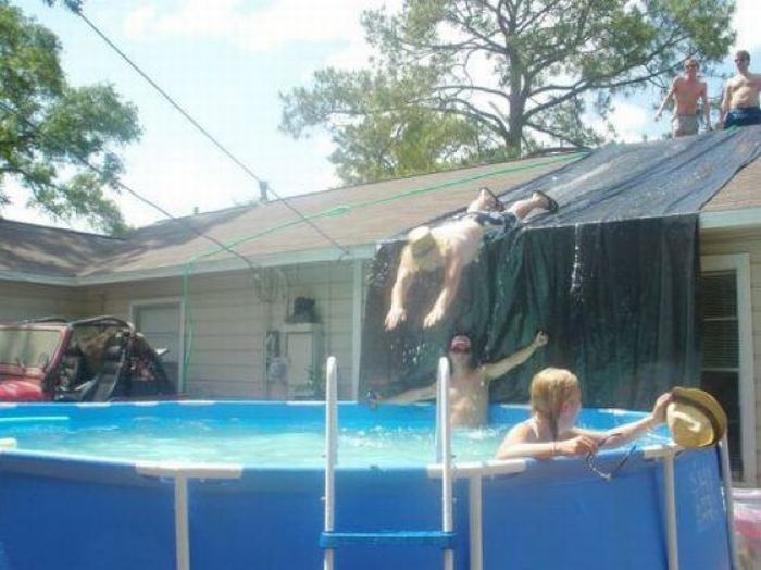 Redneck Water Slide (Oh no they didn't...)