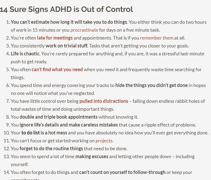 14 Signs Your ADHD is Out of Control - Dana Rayburn