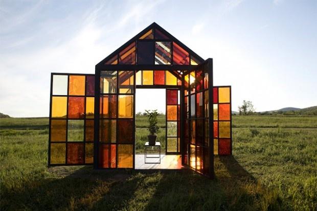 Conçu par l'artiste William Lamson, Solarium est une serre fonctionnelle…