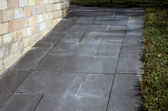 Rustic pathway in Narraweena by Ben Byllet Landscapes. Charcoal Limestone Pavers from Gaia Stone.