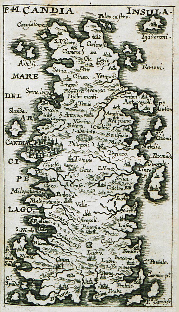 1687 Χάρτης της Κρήτης. - SANDRART, Jacob von - ME TO BΛΕΜΜΑ ΤΩΝ ΠΕΡΙΗΓΗΤΩΝ - Τόποι - Μνημεία - Άνθρωποι - Νοτιοανατολική Ευρώπη - Ανατολική Μεσόγειος - Ελλάδα - Μικρά Ασία - Νότιος Ιταλία, 15ος - 20ός αιώνας