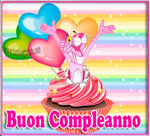 Buon Compleanno Pink Panther #compleanno #buon_compleanno #tanti_auguri