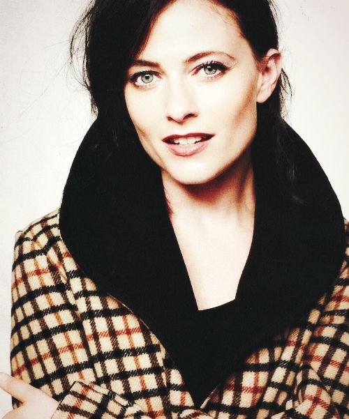 Lara Pulver. Everybody on sherlock must have amazing cheekbones or else they lose a job.