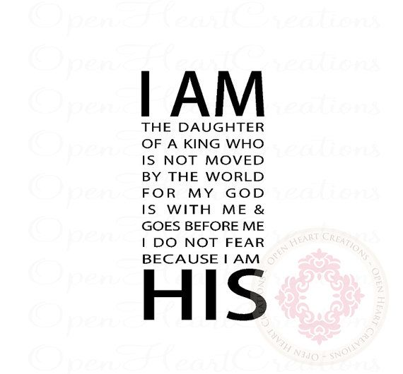 Scripture Wall Decals I Am His The Daughter Of A King