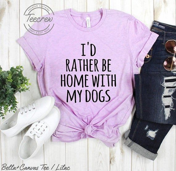 I'd Rather Be Home With My Dogs Shirt, T-Shirt, Namastay Namaste I Love Dogs…