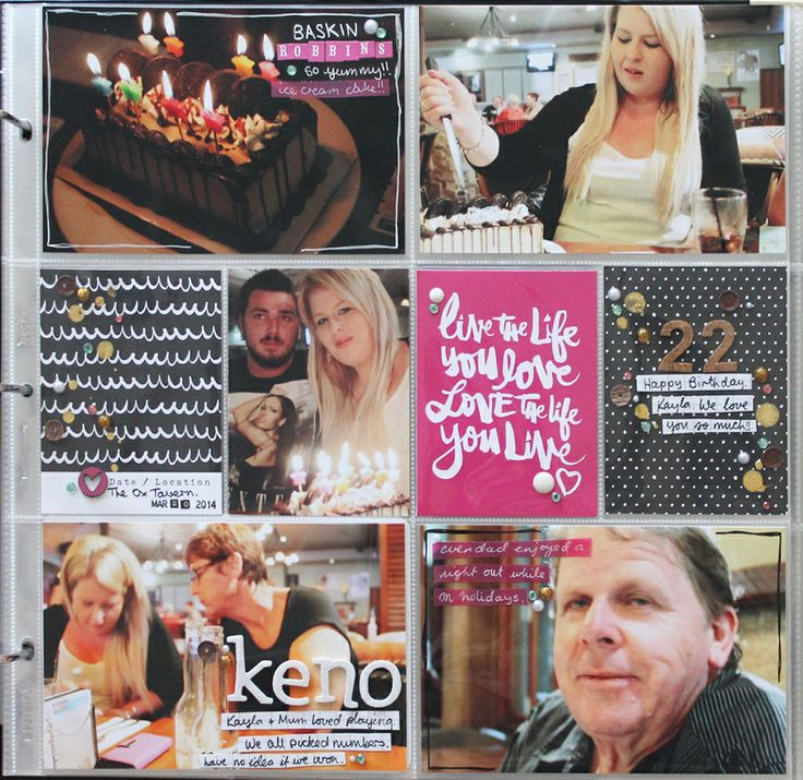 Project Life layouts by Renae Finlayson for Polly! Scrap Kits, using March Jellybeans kit. Includes process videos