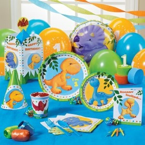 little dino 1st birthday party supplies - Party Products