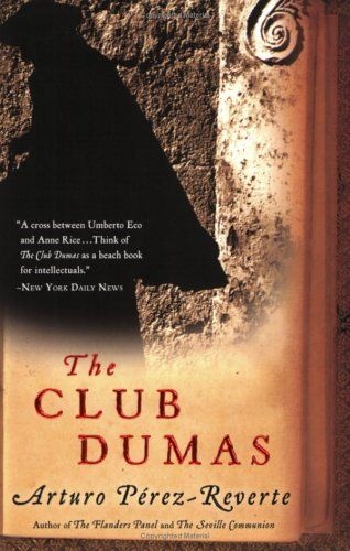 The Club Dumas by arturo Pérez-Reverte is perhaps known for many indirectly through the movie The Ninth Gate casting Johnny depp, but is also a very good book.