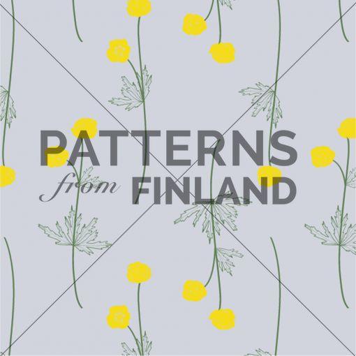 Tanja Kallio: Suvi – Kullero #patternsfromagency #patternsfromfinland #pattern #patterndesign #surfacedesign #tanjakallio