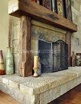 wood beam mantels for fireplace