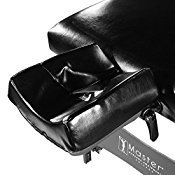 Master Massage 31″ Montclair Therma-Top Portable massage Table with MEMORY FOAM Package,Black