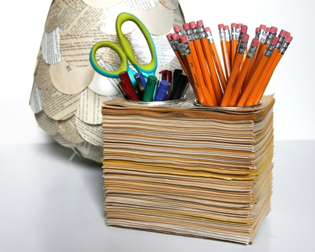 Exceptional Book Pages Pencil Cups
