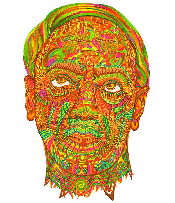 KRISHNAMURTI Portrait on Behance