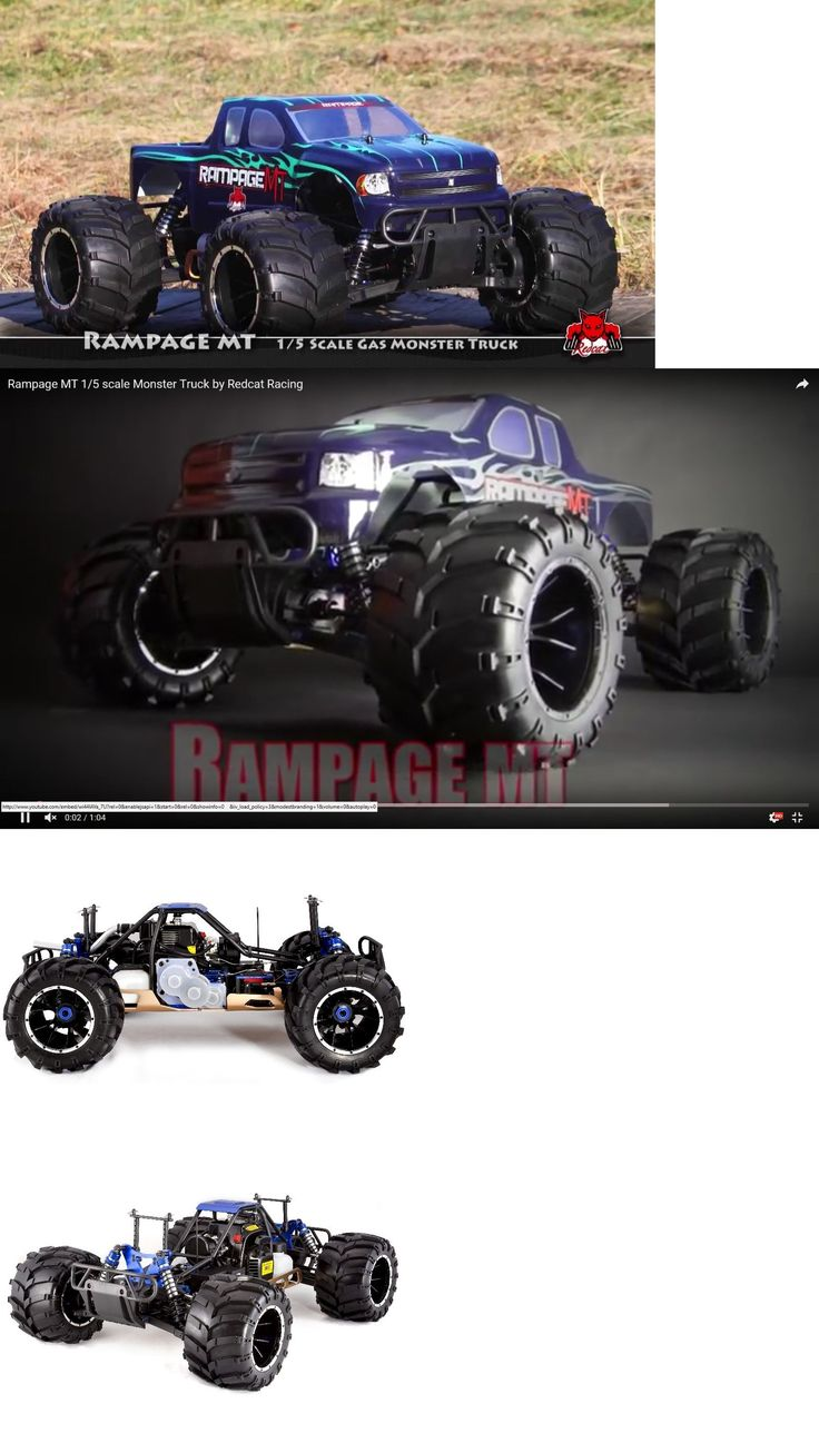 Cars trucks and motorcycles 182183 redcat 1 5th scale rampage mt v3 rc truck rtr